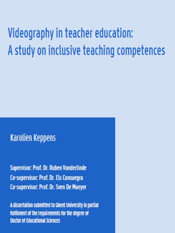 Videography in teacher education: A study on inclusive teaching competences